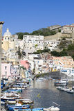 Procida, island in the mediterranean sea Stock Photos