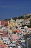 Procida, Marina Corricella, Nápoles - Napoli - Itália Imagem de Stock Royalty Free
