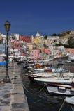 Procida, Marina Corricella, Naples - Napoli - Italie Photo libre de droits