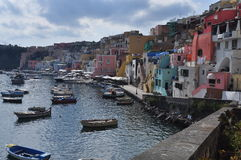 Procida, Marina Corricella, Naples - Napoli - Italy Stock Photo
