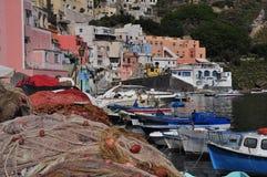 Procida, Marina Corricella Naples, Napoli, Włochy - Zdjęcie Stock