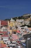 Procida, Marina Corricella, Neapel - Napoli - Italien Lizenzfreies Stockbild