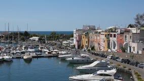 Procida, Marina di Chiaiolella. stock footage