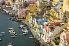 Procida is one of the Flegrean Islands off the coast of Naples i royalty free stock photos