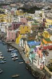 Procida is one of the Flegrean Islands off the coast of Naples i stock images