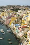 Procida is one of the Flegrean Islands off the coast of Naples i stock photography