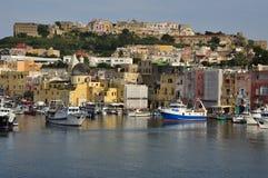 Procida Oporto, Nápoles - Napoli - Italia Imagen de archivo libre de regalías
