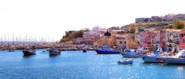 Procida, the port and the marina of Procida. Stock Image