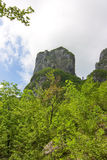 Procinto limestone tower mountain in Apuan Alps Stock Photo