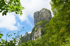 Procinto limestone tower mountain in Apuan Alps Royalty Free Stock Image