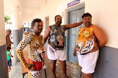 Procissão da dança do tigre Foto de Stock
