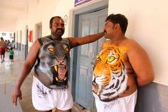 Procissão da dança do tigre Imagem de Stock Royalty Free
