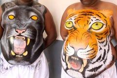 Procissão da dança do tigre Fotografia de Stock