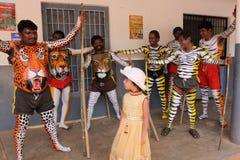 Procissão da dança do tigre Imagens de Stock Royalty Free