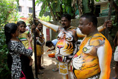 Procissão da dança do tigre Fotos de Stock