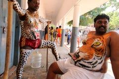 Procissão da dança do tigre Imagem de Stock