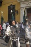 Procissão da fé na Semana Santa nas ruas de Lima foto de stock royalty free