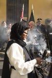 Procissão da fé na Semana Santa nas ruas de Lima foto de stock
