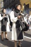 Procissão da fé na Semana Santa nas ruas de Lima imagens de stock