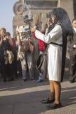 Procissão da fé na Semana Santa nas ruas de Lima fotografia de stock