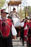 Procissão da rainha de Faire do renascimento Imagem de Stock