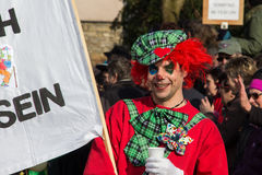 Procissão da rua no carnaval alemão Fastnacht Imagem de Stock Royalty Free