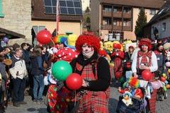 Procissão da rua no carnaval alemão Fastnacht Imagens de Stock