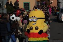 Procissão da rua no carnaval alemão Fastnacht Imagem de Stock