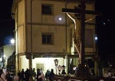 Procissão de Christ na noite Fotografia de Stock Royalty Free