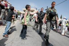 Procissão de domingo de palma em Jerusalem Fotografia de Stock Royalty Free
