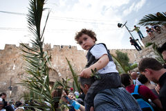 Procissão de domingo de palma em Jerusalem Fotografia de Stock