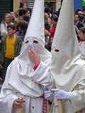 Procissão de Easter em Córdova, Spain fotografia de stock