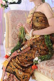 Procissão do casamento na área de Java Indonesia Imagem de Stock Royalty Free