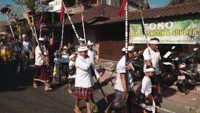Procissão do feriado do Balinese video estoque