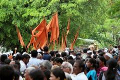 Procissão do palkhi de Sant Tukaram, Maharastra, Índia Fotografia de Stock Royalty Free