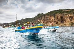 Procissão marinha Foto de Stock