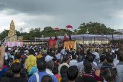 Procissão no palácio de Mysore fotos de stock