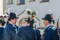 Procissão Oberperfuss de Maria Ascension, Áustria. imagens de stock royalty free