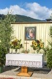 Procissão Oberperfuss de Maria Ascension, Áustria. imagens de stock