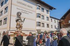 Procissão Oberperfuss de Maria Ascension, Áustria foto de stock royalty free