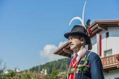 Procissão Oberperfuss de Maria Ascension, Áustria imagens de stock