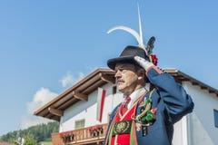 Procissão Oberperfuss de Maria Ascension, Áustria fotos de stock royalty free