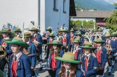Procissão Oberperfuss de Maria Ascension, Áustria fotos de stock