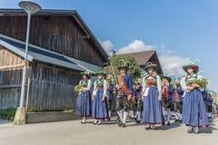 Procissão Oberperfuss de Maria Ascension, Áustria fotografia de stock royalty free