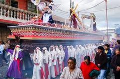 Procissão religiosa da Semana Santa em Antígua, Guatemala Foto de Stock Royalty Free