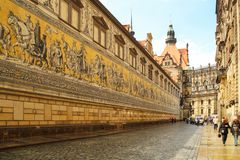 Prociss?o dos pr?ncipes, Dresden fotos de stock royalty free