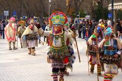 Procissão heterogêneo do carnaval dos mummers Fotografia de Stock Royalty Free