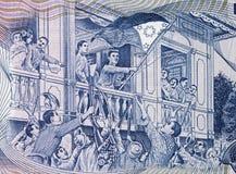 Proclamation de déclaration d'indépendance philippine à la fin de support photos libres de droits