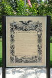 Proclamation Emancipation exhibit at the Freedom Park, Helena Arkansas. Stock Photography