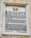 Proclamation by Pres. Roosevelt, Valletta, Malta Royalty Free Stock Image